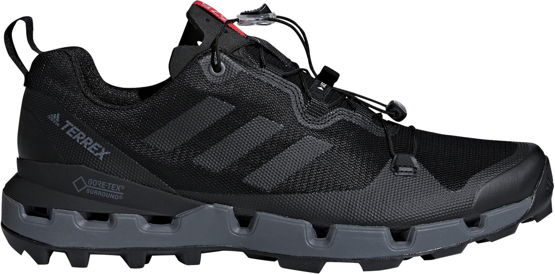 5bceaf324be adidas TERREX Fast GTX-Surround Shoes Men core black/grey five/hi-res red